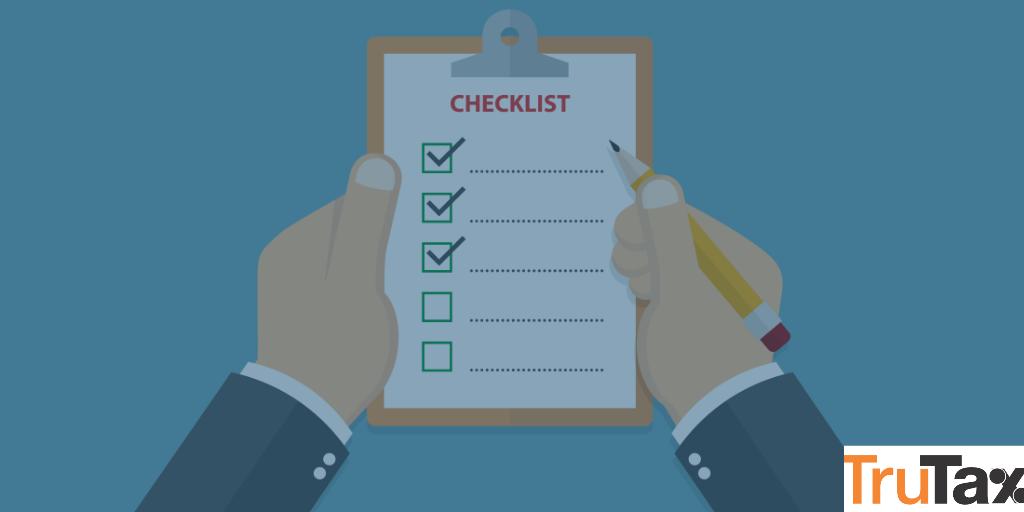 checklist of income tax process