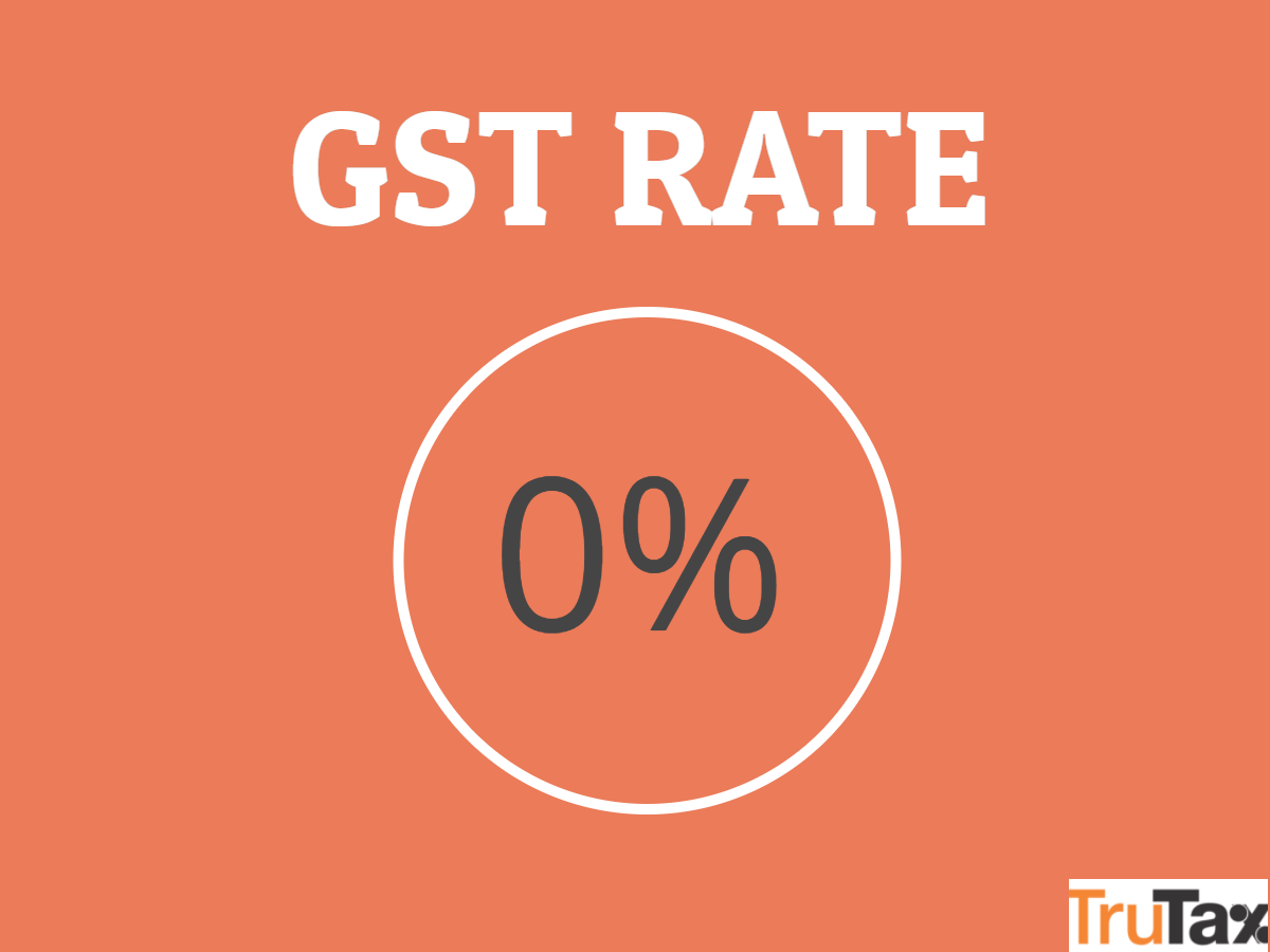 GST Rate 0%
